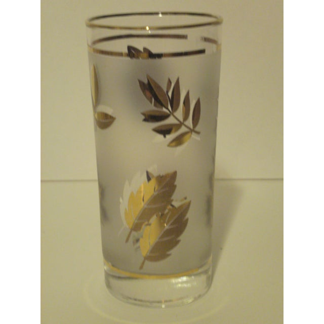 Gold Leaf Pattern Barglasses - Set of 12 - Image 4 of 7
