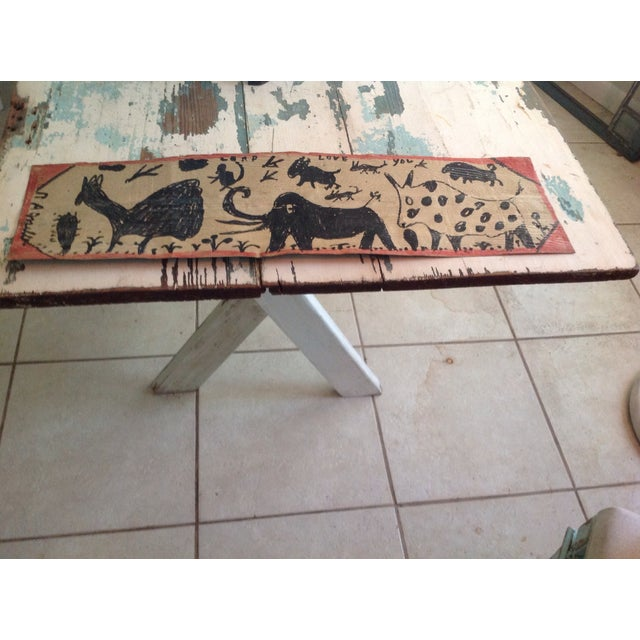 Vintage Folk Art Primitive Native Painting - Image 4 of 9