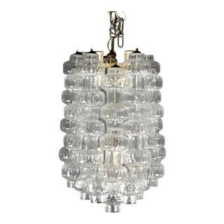 1960's Blown Murano Italian Glass Chandelier
