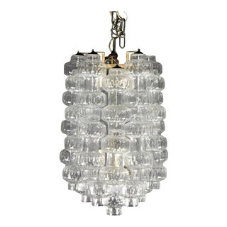 1965 Blown Murano Italian Glass Chandelier