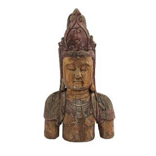 Wood Carved Quan Yin