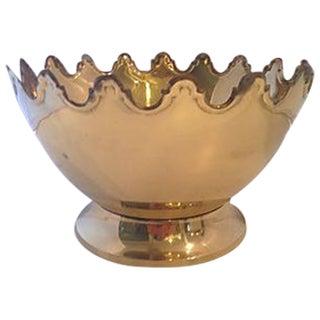 Scalloped Brass Centerpiece Bowl