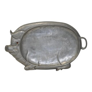 Circa 1980 Arthur Court Designs Aluminum Pig Serving Tray