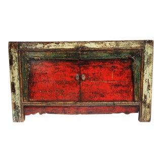 Antique Mongolian Two Door Cabinet
