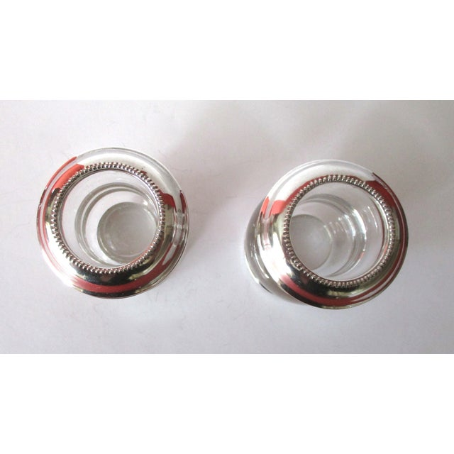 Vintage Silver & Glass Mini-Urn Vases - A Pair - Image 3 of 7
