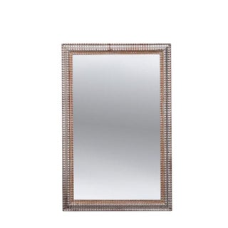 French 19th Century Ribbed Silver Gilt Mirror