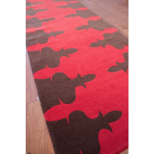 Madeline Weinrib Red Carlotta Wool Rug - 2′6″ × 9′ - Image 3 of 6