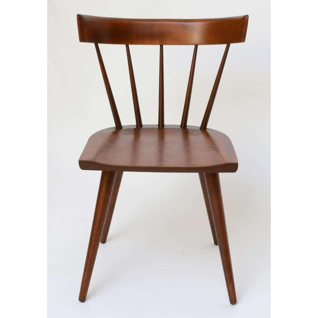 Single Paul McCobb Spindle Back Chair in Dark Maple - Image 2 of 9