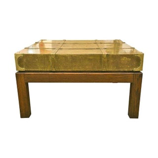 Sarreid Brass Oak Coffee Table