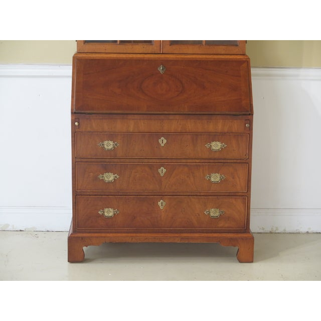 Henredon Folio 10 Walnut George III Style Secretary Desk - Image 2 of 11