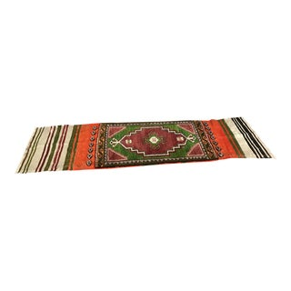 Anatolian Small Rug/Kilim Wool Runner - 1′6″ × 5′6″