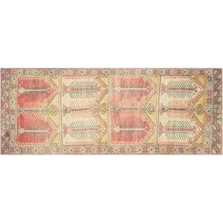 """Vintage Turkish Anatolian Oushak Rug - 3'7"""" X 10'"""