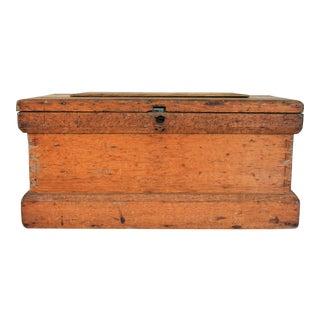 Rustic Wooden Storage Trunk