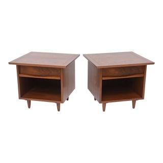 Pair of American Modern Walnut Night Tables, George Nakashima
