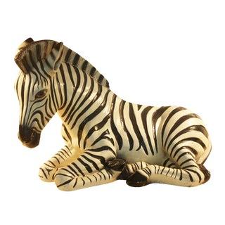 Monumental Italian Zebra Ceramic Sculpture
