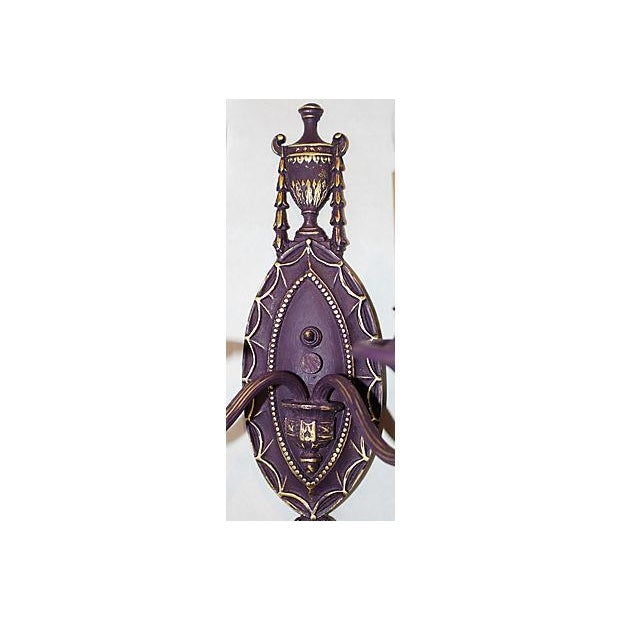 Painted Brass Sconce - Image 5 of 5