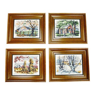 Mark Coomer Four Seasons Serigraphs - Set of 4