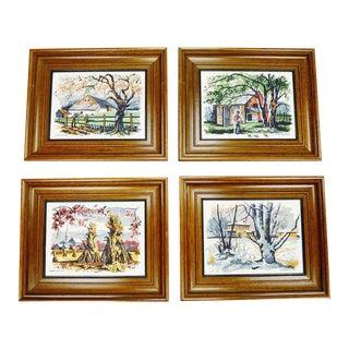 Mark Coomer Four Seasons Serigraphs - Set of 4