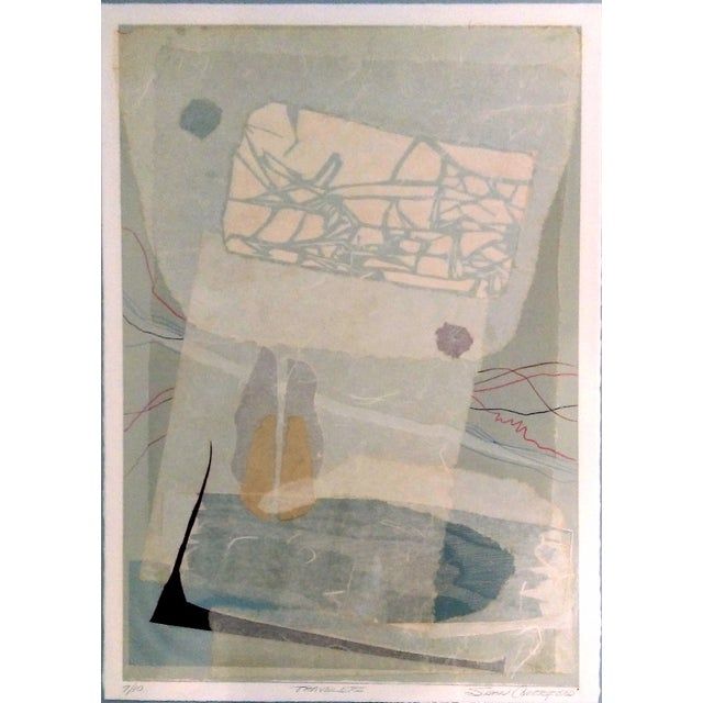 Image of Susan Comerford Abstract Mixed Media Monoprint - 3