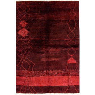 "Moroccan, Hand Knotted Area Rug - 5' 10"" x 8' 9"""