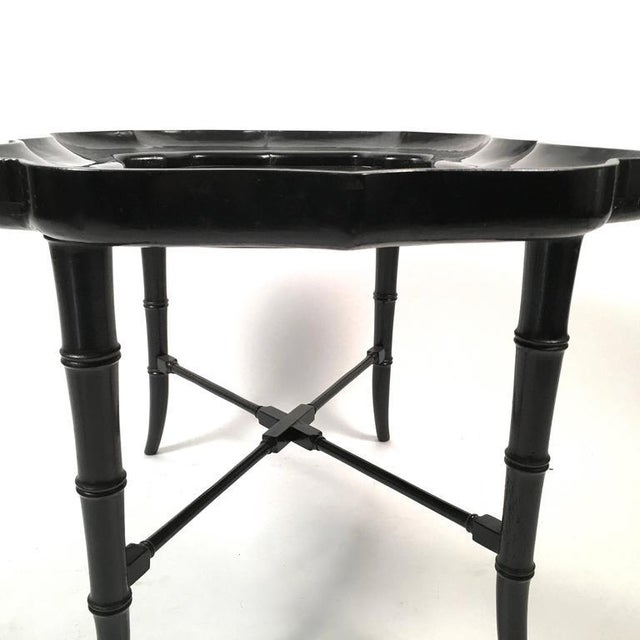 Black Lacquered Tray Top Coffee Table - Image 2 of 5