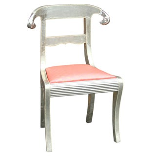 Indian Silver Ram Arm Chair