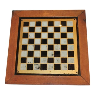 19th Century all Original Reverse Painted Gameboard with Hearts from Arkansas