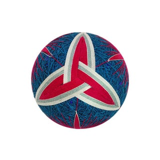 Temari Ball Handmade Ornament - Triangle Knot