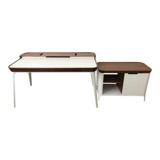 Herman Miller Airia Desk & Media Cabinet