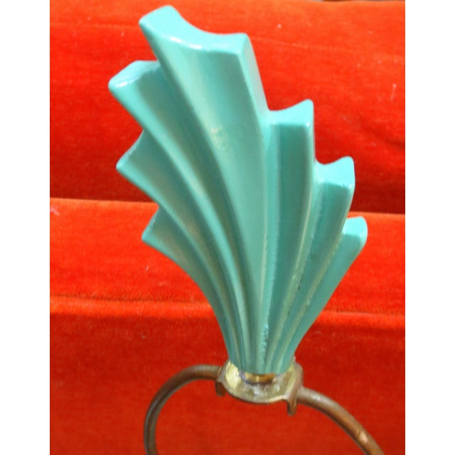 Hollywood Regency Mint Lamps - A Pair - Image 9 of 10