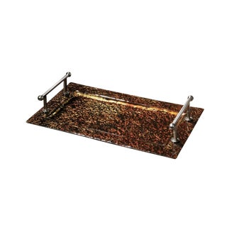 Bronze Glass Transitional Tray