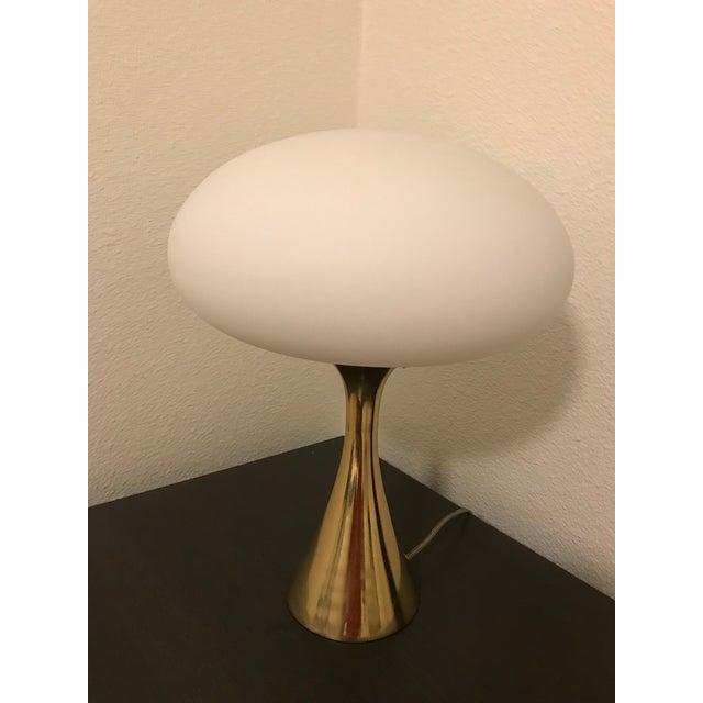 Mid-Century Laurel Brass Mushroom Lamp - Image 6 of 6