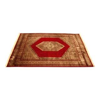 Vintage Handmade Persian Wool Rug - 5′ × 7′4″