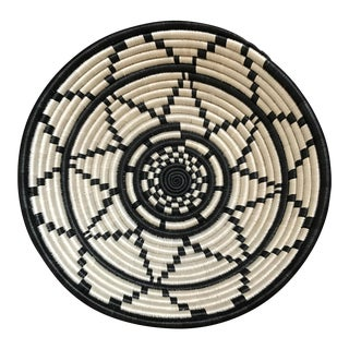 Black & White African Coil Basket
