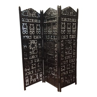 Vintage Moroccan 3-Panel Folding Room Divider Screen