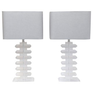 Pair of Mid-Century Luctite Table Lamps