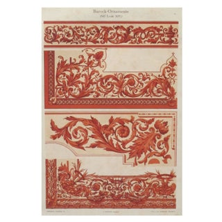 Colorful Decorator Sheet - Crimson C. 1900