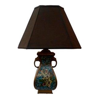 Circa 1920s Champleve Lamp