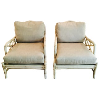 Ficks Reed Lounge Chairs - a Pair