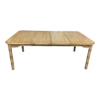 Vintage Ficks Reed Bamboo Dining Table