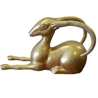 Hollywood Regency Brass Gazelle
