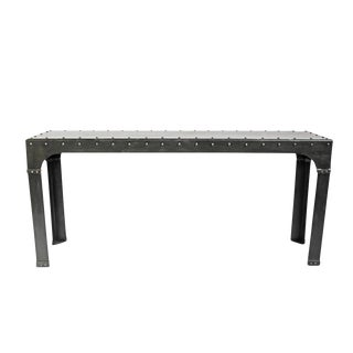 Industrial Iron Rivet Console
