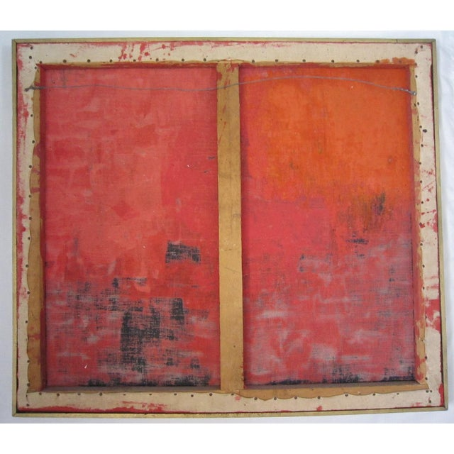 Image of Mid-Century Signed Abstract Painting
