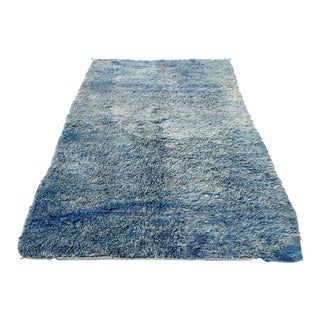Moroccan Blue Sun Bleached Rug- 5' x 8'
