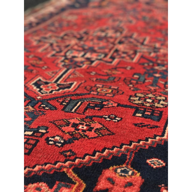 "Vintage Persian Zanjan Short Runner - 2'9"" x 6' - Image 9 of 10"
