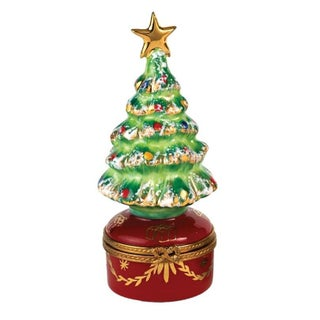 Scully & Scully Christmas Tree on Red Base Limoges Box