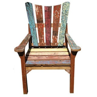 Reclaimed Teak Boat Chair