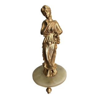 24k Gold Salamander Collection Lady Statue