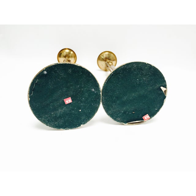 Vintage Brass Tasseled Candleholders - A Pair - Image 4 of 6