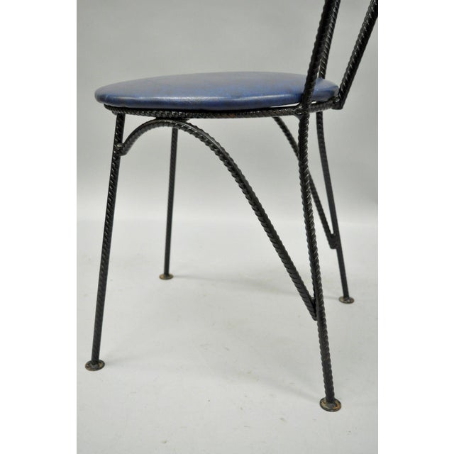 Mid-Century Modern Brutalist Iron Rebar Dining Chairs - Set of 4 - Image 5 of 11